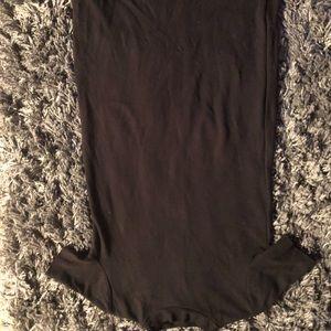 Women's blk midi dress small Zara